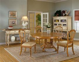 Wilshire 5pc Round Dining Set Antique Pine