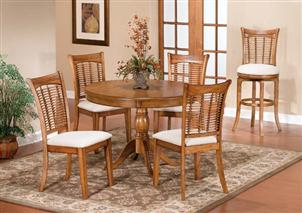 Bayberry 5pc Round Dining Set Oak