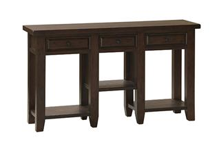 Tuscan Retreat® 3 Drawer Hall Table - Rustic Mahogany