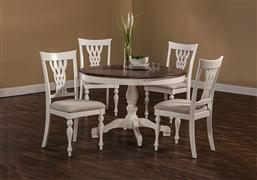 Bayberry / Embassy 5-Piece Round Dining Set - White