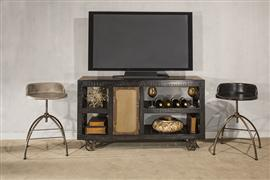 Bridgewater Server with Casters - Rubbed Black Wood