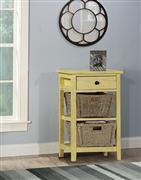 Tuscan Retreat® 2 Basket 1 Drawer Open Side Stand - Calypso Yellow