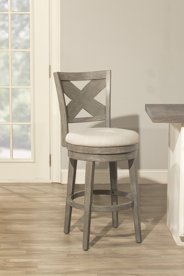 Incredible Sunhill Swivel Bar Stool Weathered Gray Ncnpc Chair Design For Home Ncnpcorg