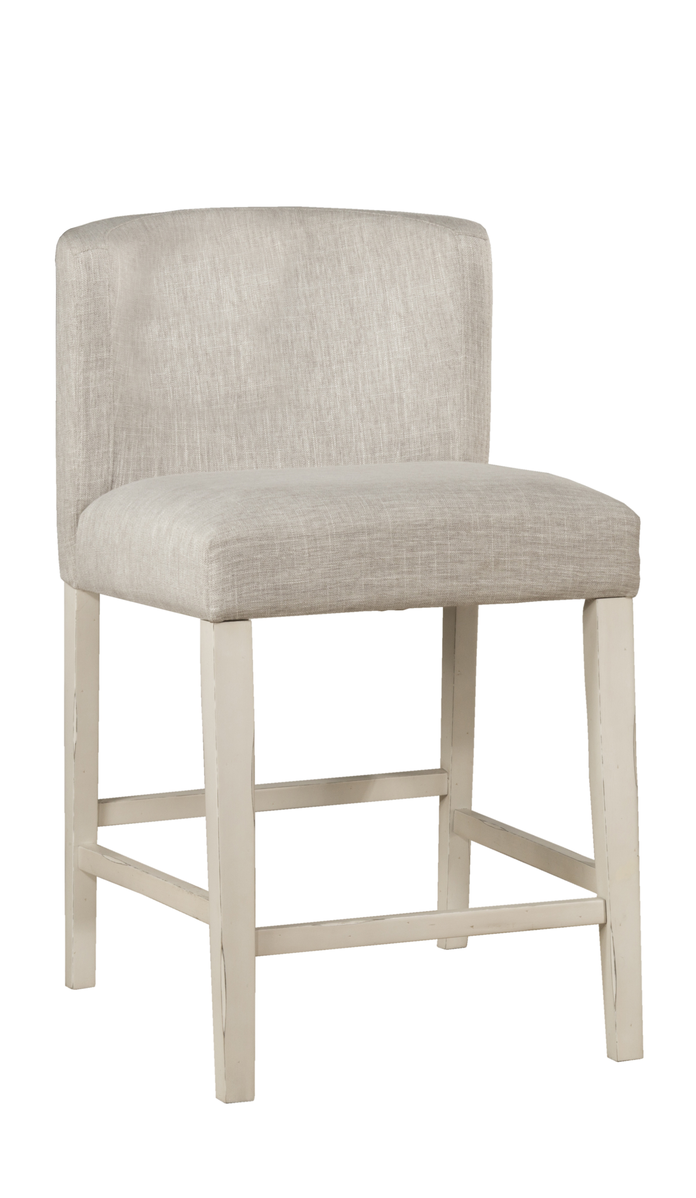 Clarion Wing Arm Non Swivel Counter Height Stool Sea White