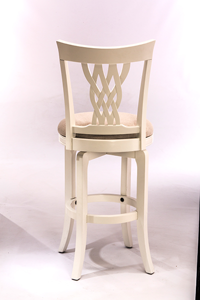 Embassy Swivel Counter Stool White Ecru
